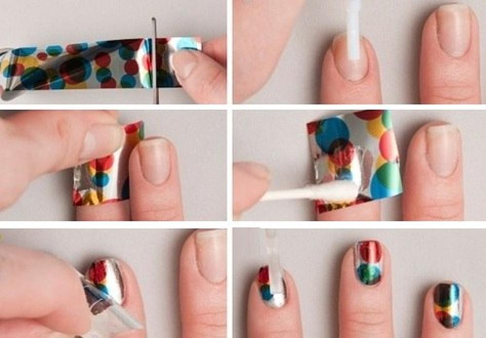 Дизайн ногтей с фольгой как делать