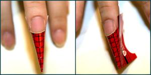 Надеваем форму на палец