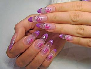 Нарощенные гелем ногти
