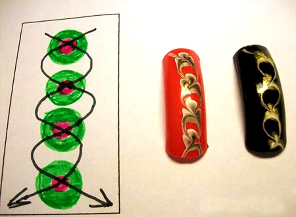 Дизайн ногтей мокрый лак видео