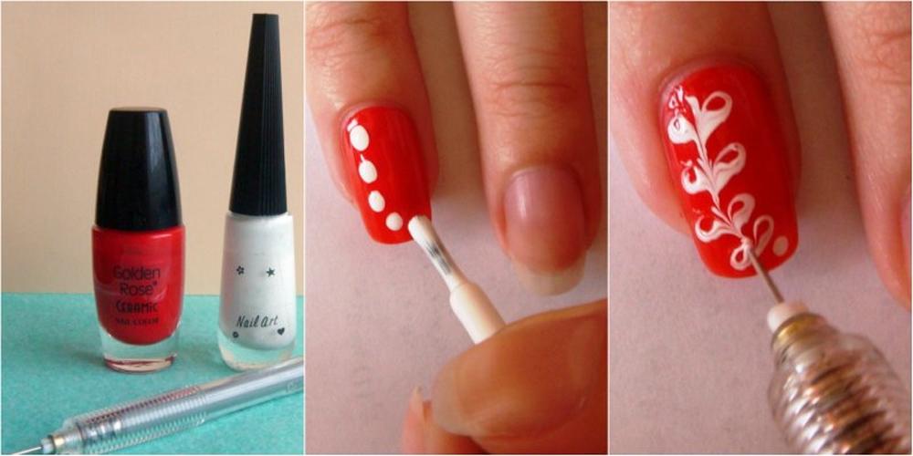 и простых узоров на ногтях
