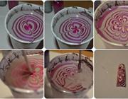 Процесс создания водяного маникюра