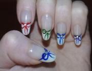 Рисунки на ногтях бантики