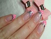 Дизайн ногтей с бантиками
