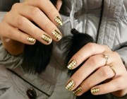 Фото дизайна ногтей с золотом