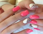 Нарощенные ногти розовый френч