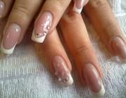 Нарощенные ногти квадратные френч