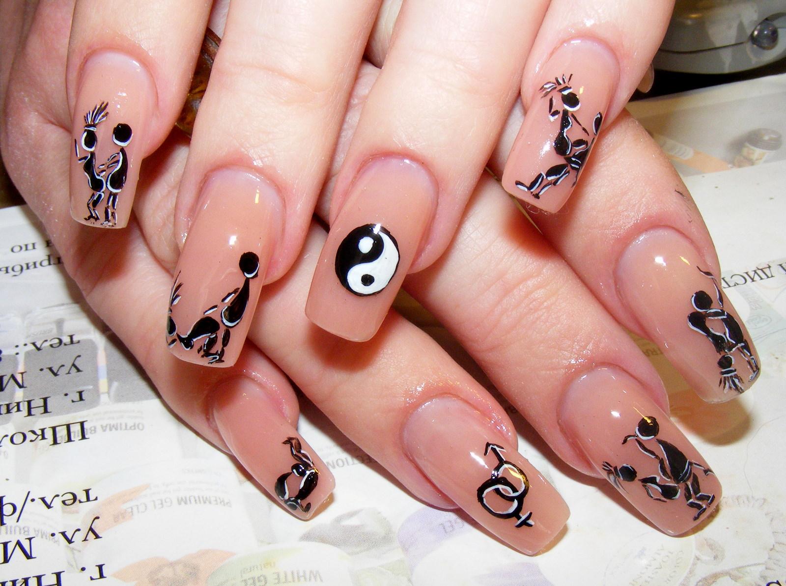Рисунки на ногтях в домашних условиях 10 фотография