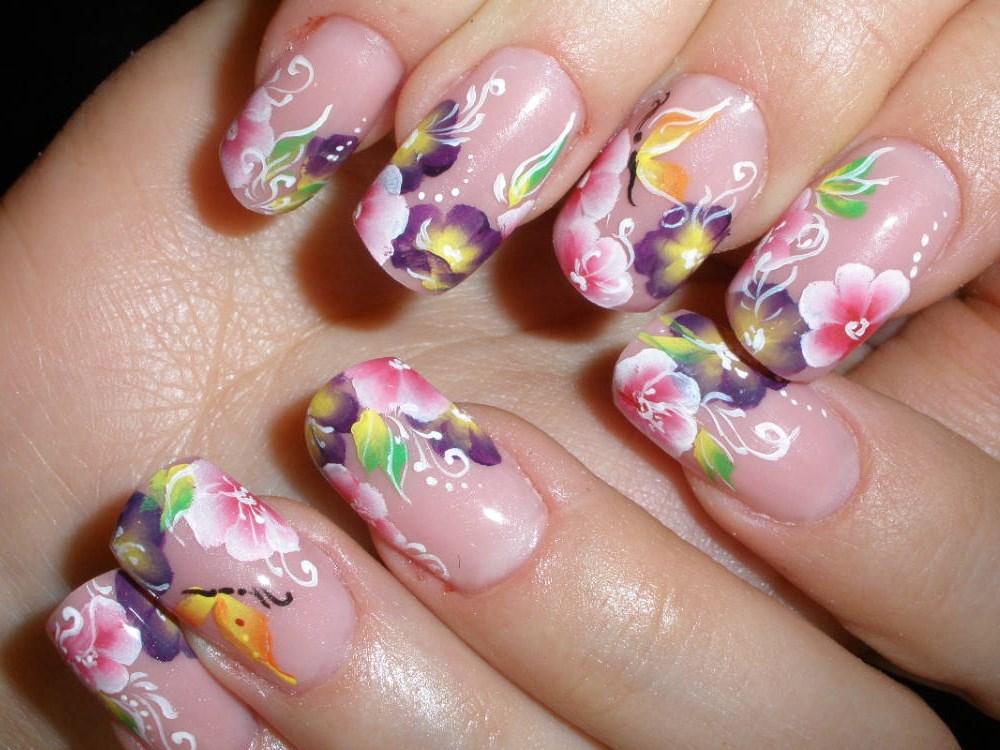 Дизайн ногтей и росписью фото