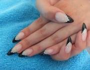 Черные острые ногти