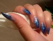 Дизайн гелевых ногтей с блестками