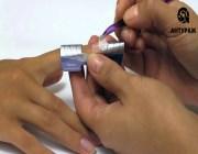 Наращивание ногтя на форме