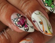 Наращивание ногтей, рисунки на ногтях