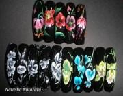 Дизайн китайская роспись ногтей