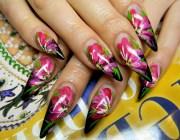 Дизайн ногтей с китайской росписью