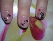 Рисунки кошки на ногтях