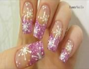 Снежинки на ногтях мастер класс