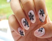 Как на ногтях нарисовать снежинку