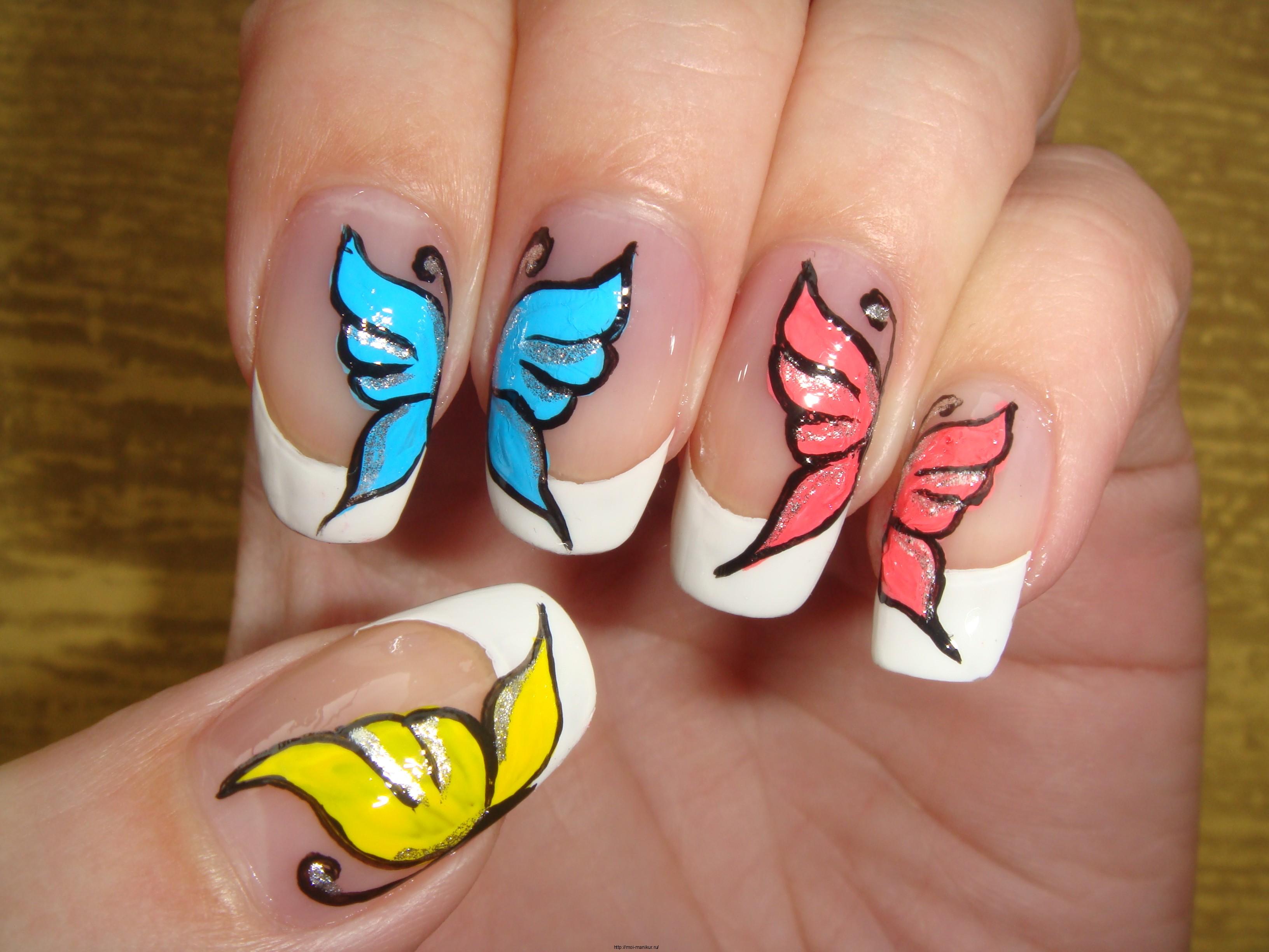 Видеоурок дизайна ногтей на ногтях