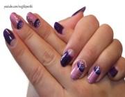 Маникюр с фиолетовым лаком
