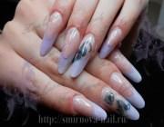 Ногти овальные дизайн