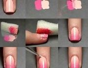 Дизайн ногтей губкой