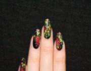 Хохломская роспись на ногтях