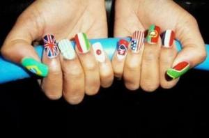 Флаги на ногтях