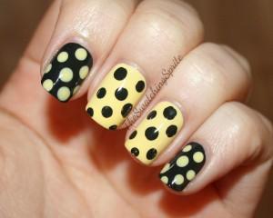 Горошек в дизайне ногтей