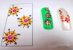 Схемы рисунков для ногтей