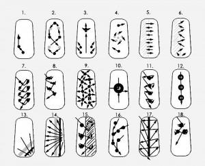 Схемы рисунков на ногтях для начинающих