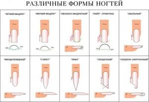 формы нарощенных ногтей фото