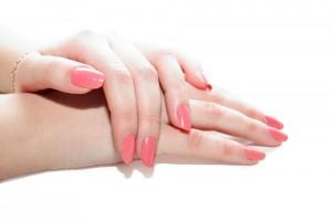 нарощенные ногти розовые фото