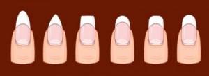 виды нарощенных ногтей фото