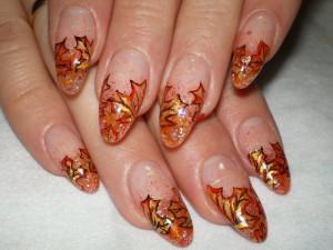 дизайн ногтей осенний