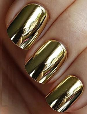 Эффект литья золотой фольгой