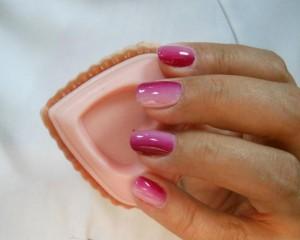 Готовый градиент на ногтях