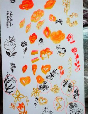 Рисунки акриловыми красками