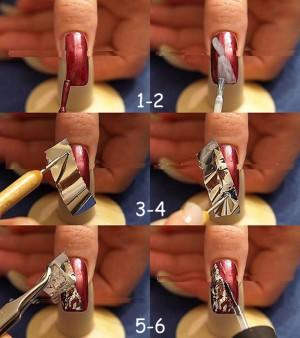 как сделать маникюр с помощью фольги