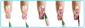 схемы рисунков на ногтях акриловыми красками