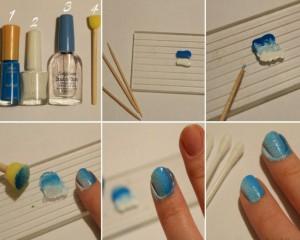 Как делать омбре маникюр
