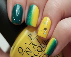 Переход цвета на ногтях