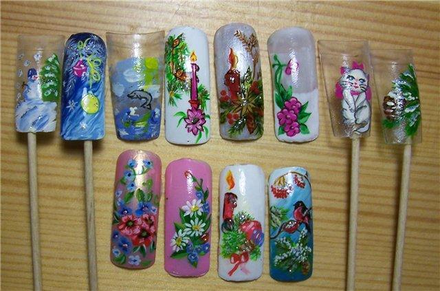Краски для ногтей дизайна акриловые