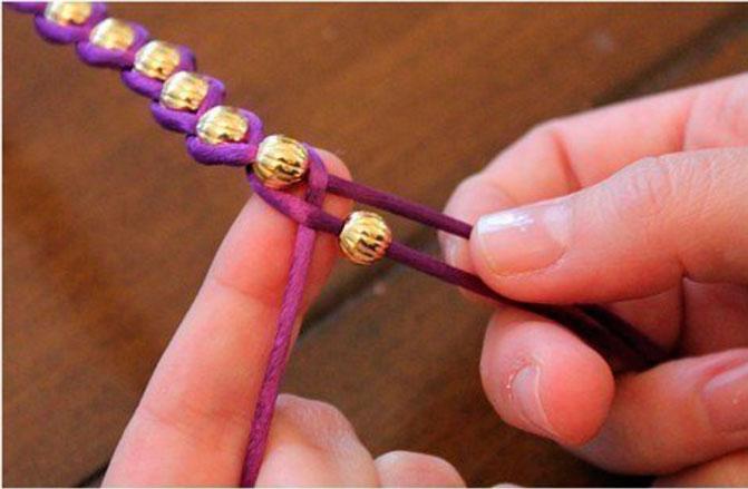 Плетеный браслет 2