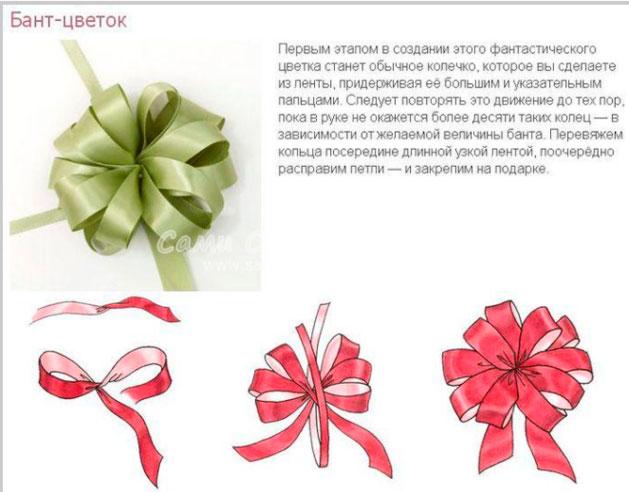 Бант в виде цветка